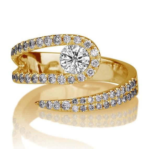 unique snake theme engagement ring