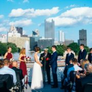 wedding ceremony aboard Gateway Clipper