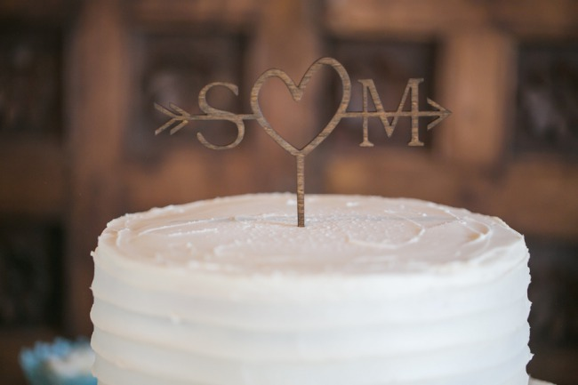 wire initial cake topper