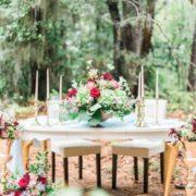 woodland styled shoot table