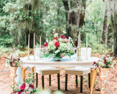 woodland styled shoot table