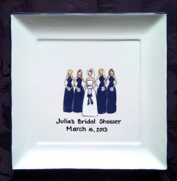 Bridal Shower Guestbook plate
