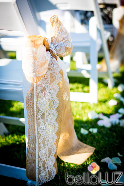 lave wedding aisle chair decor