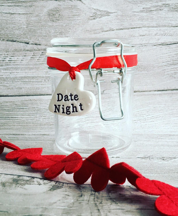 Date Night Jar for bridal shower games