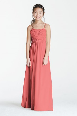Long Chiffon Sweetheart Gown for Junior Bridesmaid