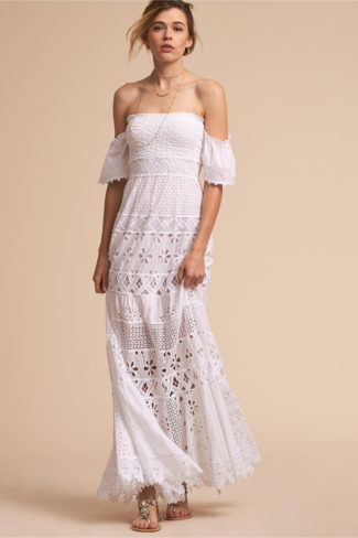 White Rehearsal Dinner Dress – Nihoa Dress – BHLDN