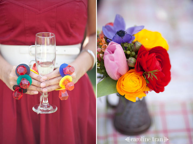 backyard bridal shower ring pops