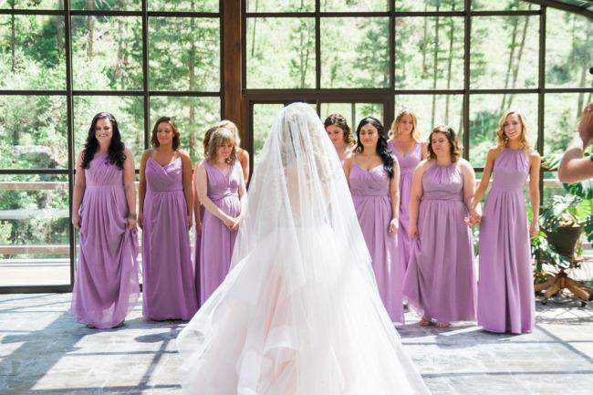 bridesmaid first look at bride