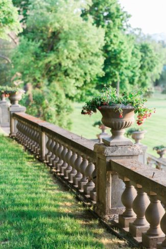 cement railing at Daly Mansion