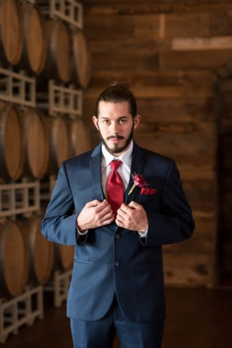 groom at The Vine in Texas