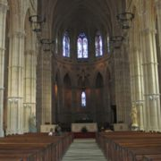 interior of a Catholic abbey
