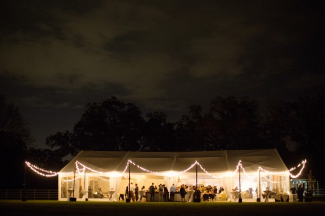 marquee tent at night