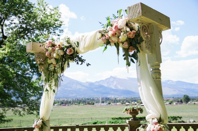 outdoor alter with flowers