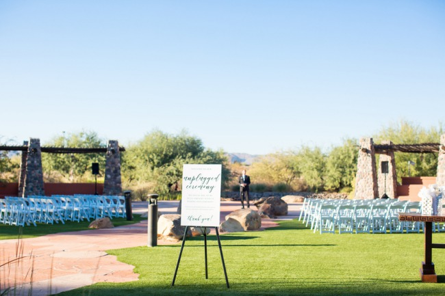 outdoor ceremony area at Sheraton Wild Horse Pass
