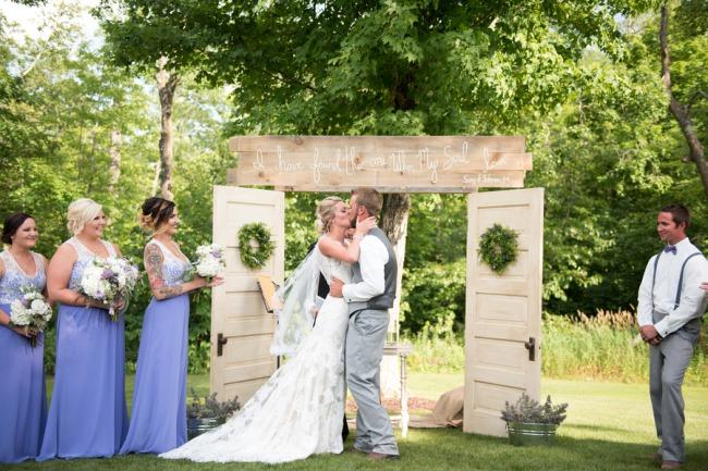 Outdoor Wedding & Rustic Barn In Minnesota