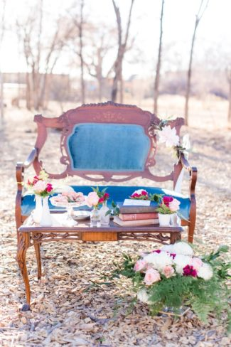 outdoor styled vintage love seat