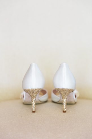 sparkly heel on Kate Spade shoes