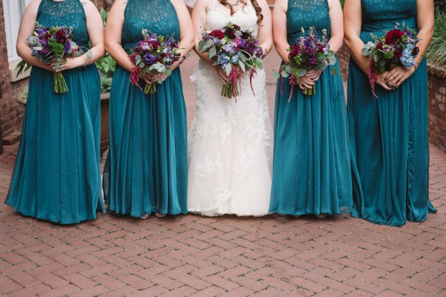 turquoise bridesmaid gowns