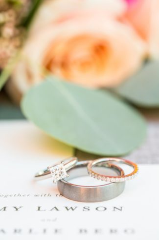 wedding bands and diamond ring