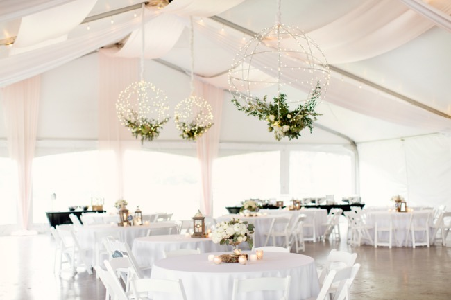 white reception under marquee tent