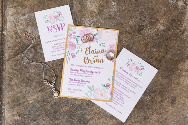 wimsical watercolor stationery