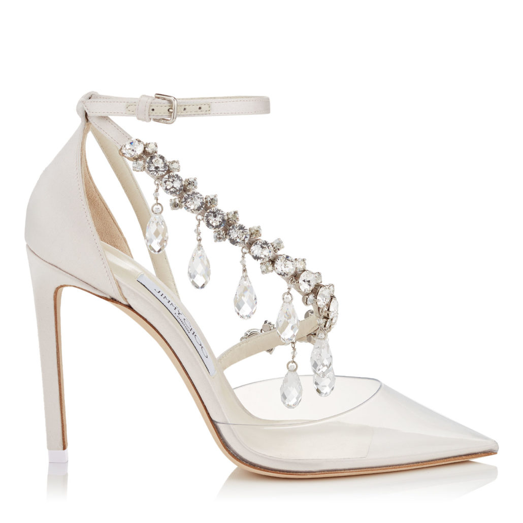 Jimmy Choo Bridal Pointy Toe Pumps With Swarovski Crystals