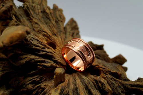 Celtic design Copper ring