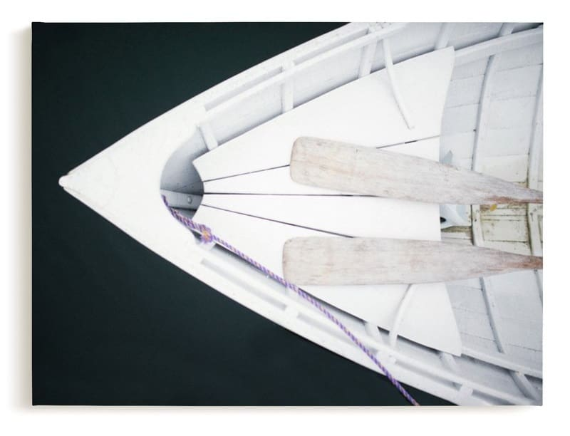 Paddles in a canoe Minted Canvas Art entitled afloat