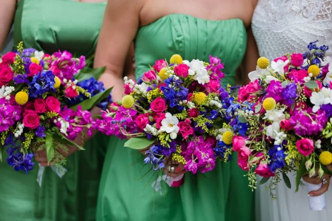 colorful-pink-and-billy-ball-bouquet