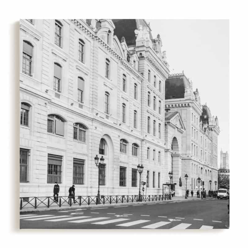 french elegance minted wall art canvas of Paris