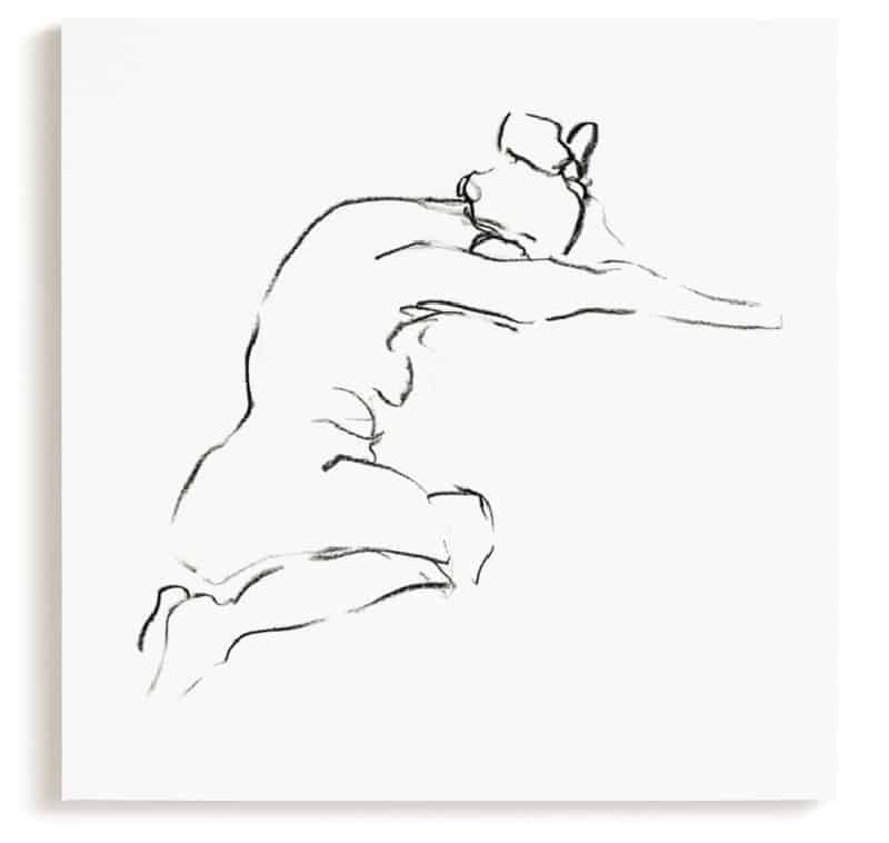 model9 minted wall art canvas – nude drawing