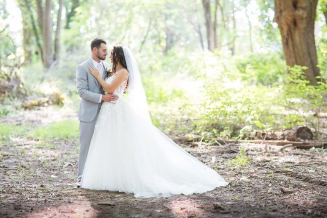 newlywed-portrait-in-forest