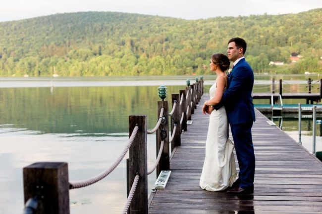 newlyweds-on-dock-in-cooperstown
