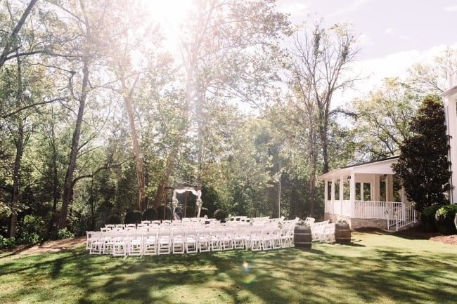 outdoor ceremony at vineyard