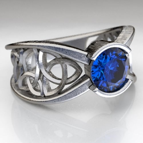 sapphire celtic engagement ring