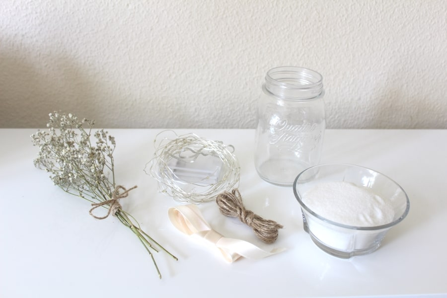 DIY Mason jar light supplies