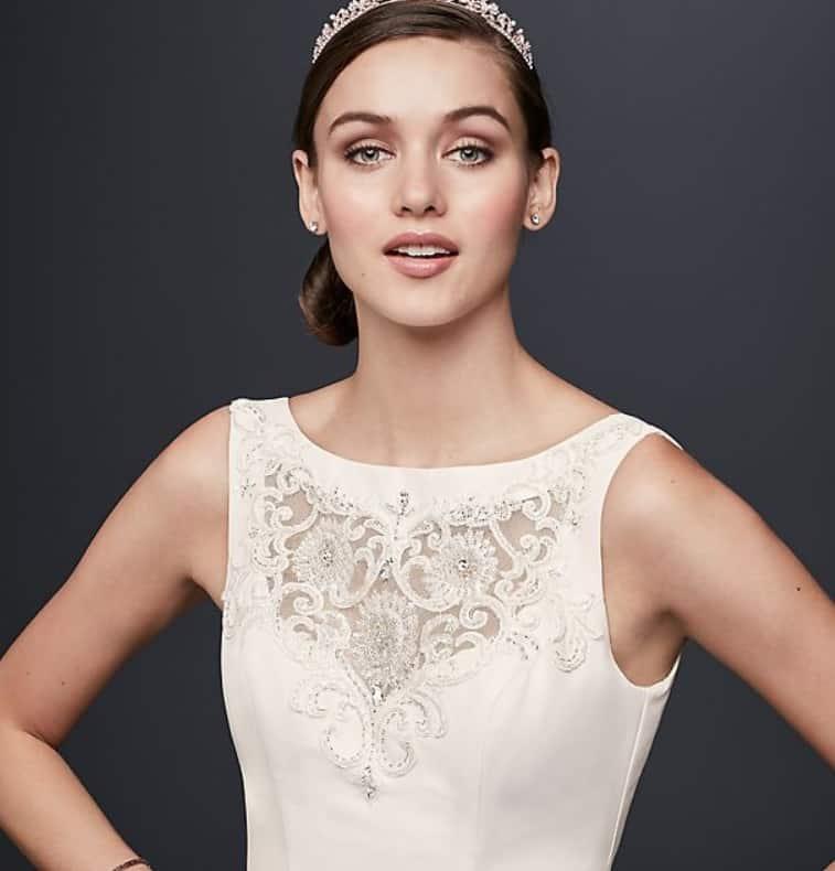 Example of a wedding dress with a bateau neckline
