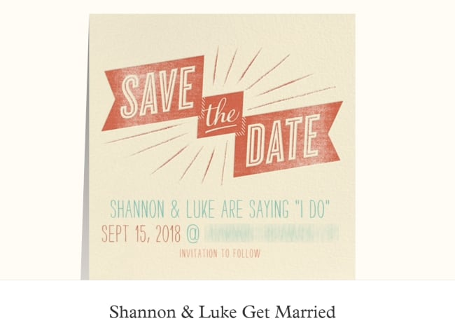 Paperless Post save the date example