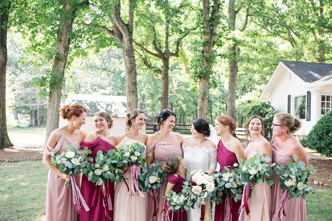 Upscale barn wedding in late summer feature