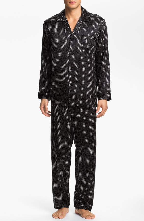 dot silk pajamas for 4th wedding anniversary gift for men & 20 Best Silk Anniversary Gifts (4th Year) for Him u0026 Her!
