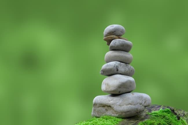 rocks balancing ontop