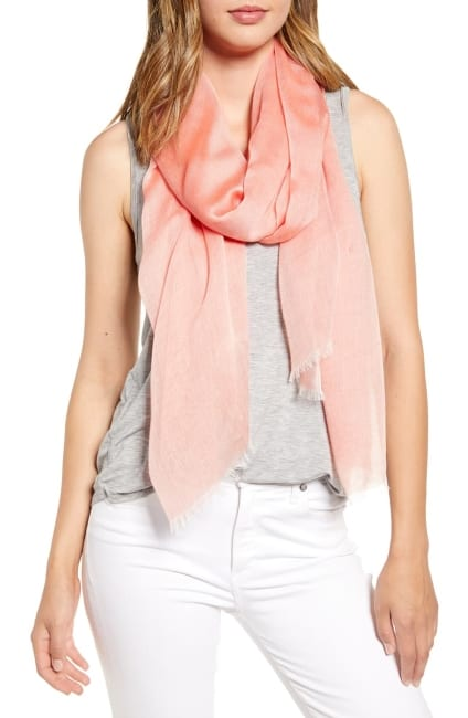 pink silk scarf for 4th year anniversary gift