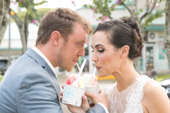 Tropical Hawaii Garden styled shoot with shave ice