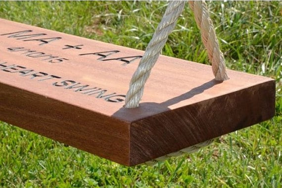 Wood Tree Swing for 5th anniversary gift