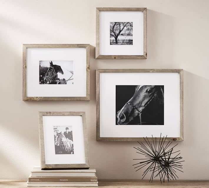 Wood gallery frames anniverysary gift
