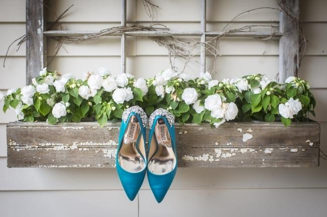 turquoise badgley mischka heels