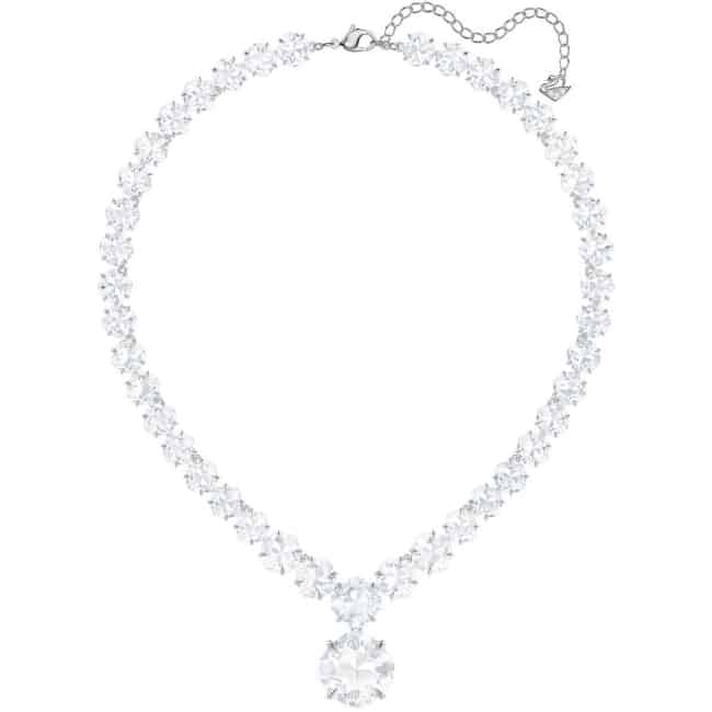 Chunky swarovski crystal necklace for second wedding