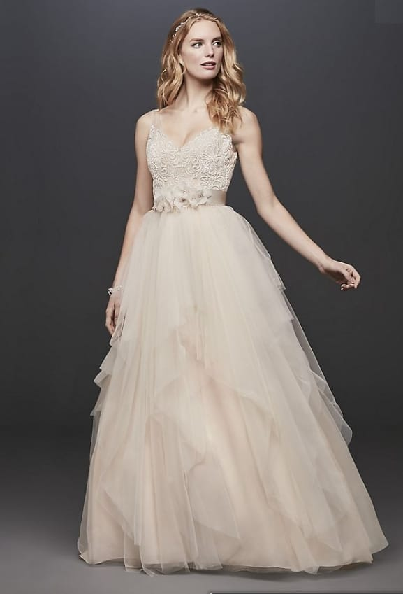GALINA tulle 2nd marriage bridal gown