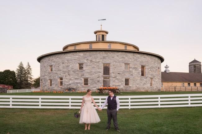 Hancock Shaker Village newlyweds