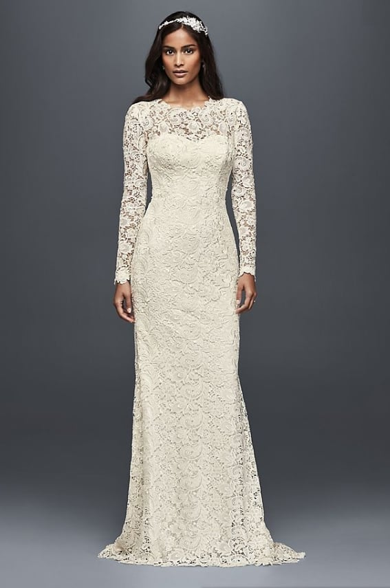 Lace Wedding Dress with Open Back for sencond marriage dress